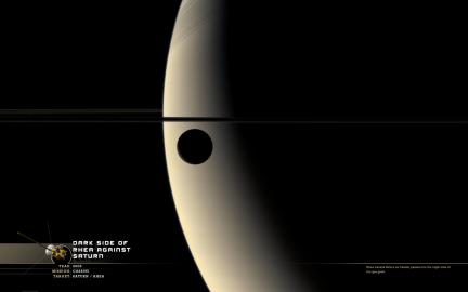 Wallpaper: Rhea and Saturn