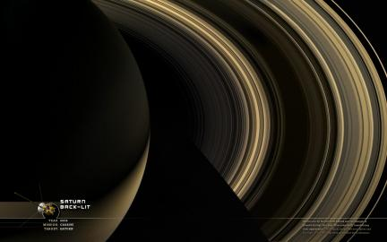 Saturn Back Lit