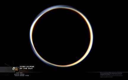 Wallpaper: Titan Eclipse