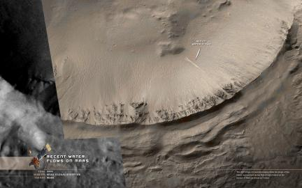 Wallpaper: Water Flows on Mars