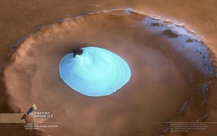 Wallpaper: Frozen Water on Mars