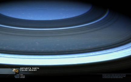 Wallpaper: Saturn's North Polar Region
