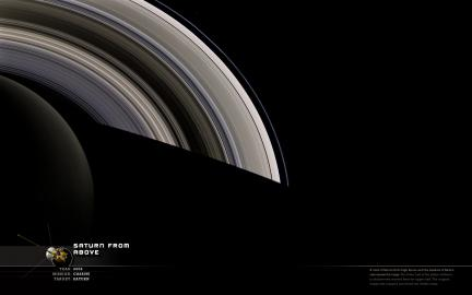 Wallpaper: Saturn from Above