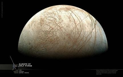 Wallpaper: Europa at Half Phase