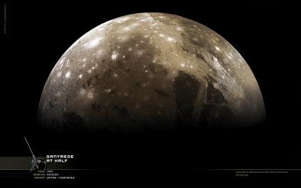 Wallpaper: Ganymede at Half Phase