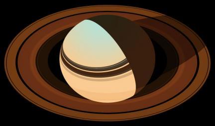 Saturn Drawing False Colors