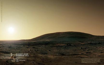 Wallpaper: Mars Sunset on Husband Hill