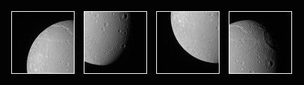 Dione in four exposures