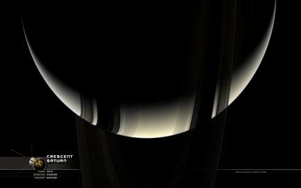 Wallpaper: Crescent Saturn II