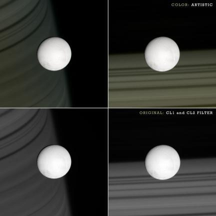 Enceladus on Saturn