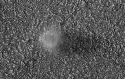 Dust Devil on Mars from Orbit