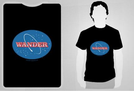 Wander In Space Tee at redbubble.com