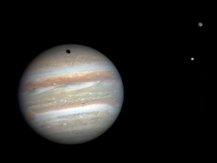 Jupiter, Io and Ganymede From New Horizons by Gordan Ugarkovic