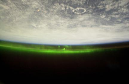 Earth Aurora from ISS