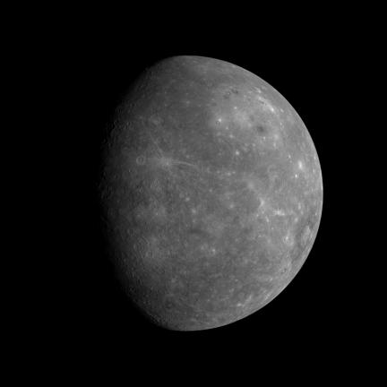 Mercury as seen by Messenger on Jan 14, 2008