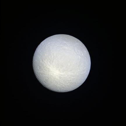 Rhea composite from infrared, ultraviolet and green filters