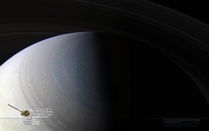 Wallpaper: Northern Cloudtops on Saturn