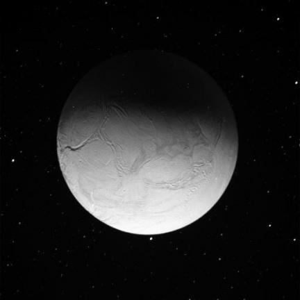 Enceladus Unlit by the Sun