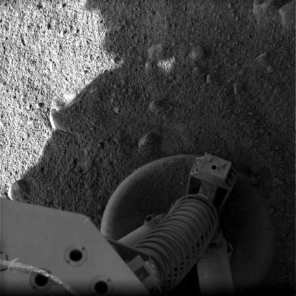 Mars Phoenix Opens Its Eyes
