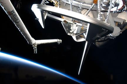 STS-124: Arm & Crescent