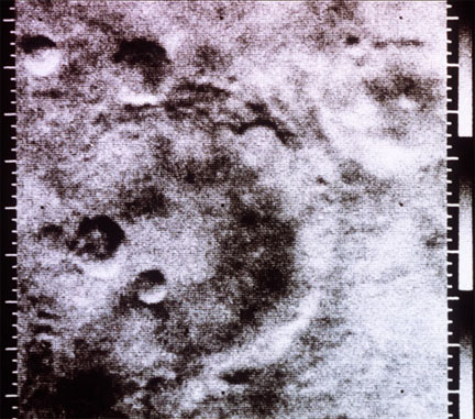 An early Mariner 4 image of Mars