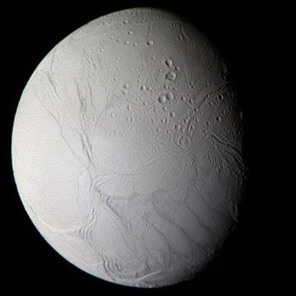 Enceladus from Aug 12, 2008