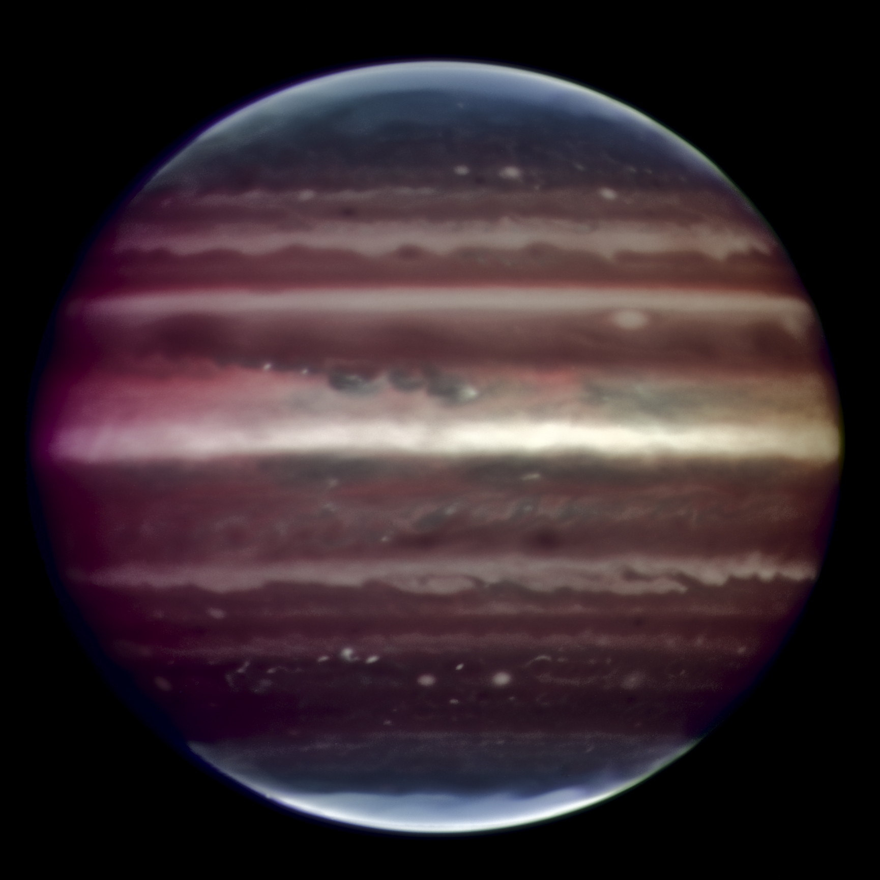 Jupiter in infrared light