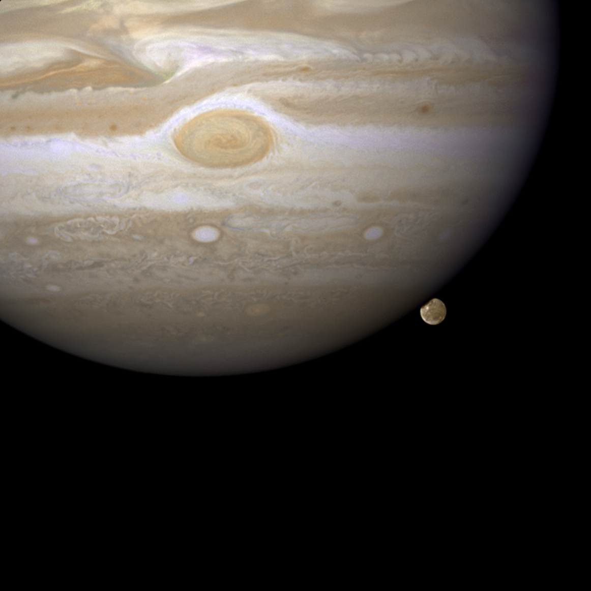 Jupiter and Callisto from Hubble