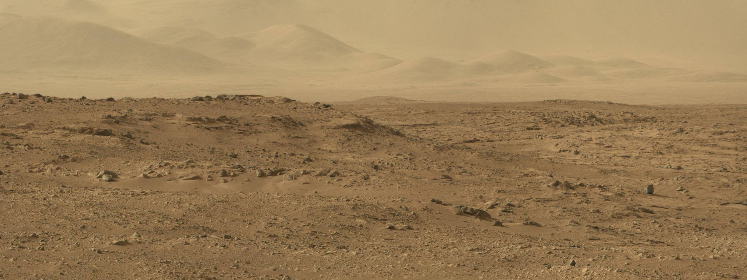Mars Curiosity's View on Sol 50