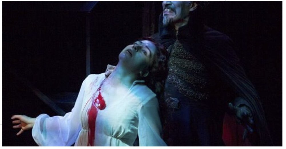"NPR Interview - Behind The Screams Of Actors Theatre's 'Dracula' - ""Dracula"" runs for nine weeks with nearly 70 performances divided between two vocal artists. Discover what it takes to successfully train and protect your voice during extreme vocal challenges."