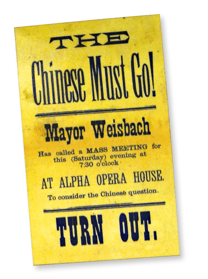 Chinese exclusion imagery from the late 19th century— Burying My Dead