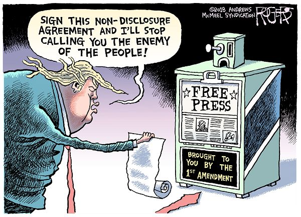 Political cartoon by Rob Rogers