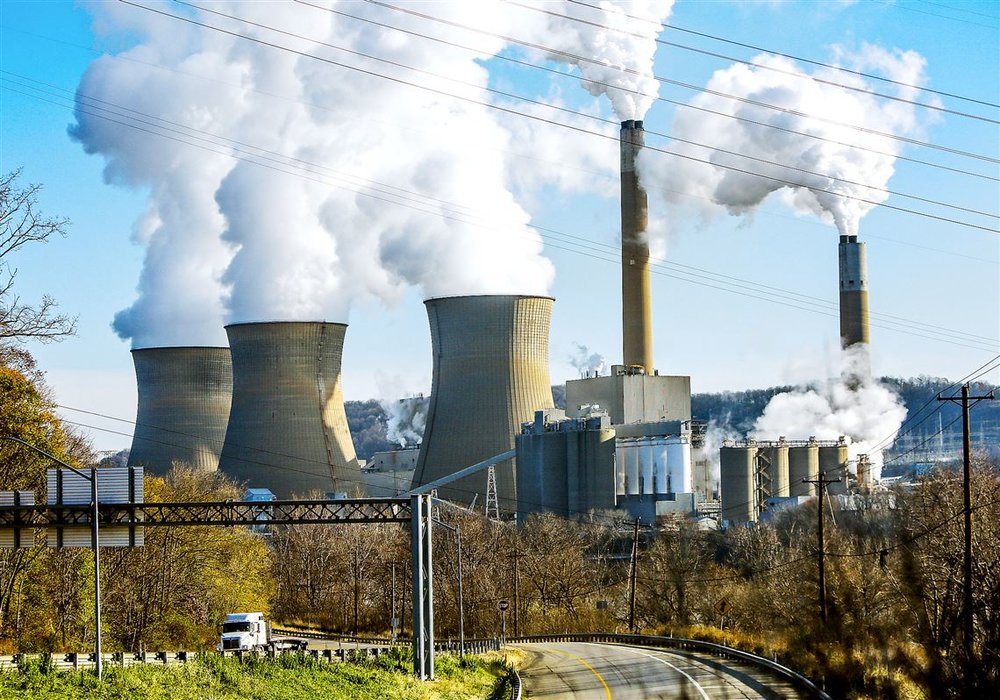 In 2017, downwind states like Delaware and Connecticut put pressure on Pennsylvania's coal-fired power plants to curb emissions. Pictured is the Bruce Mansfield Power Plant in Shippingport, Pennsylvania.  Read more in the  Pittsburgh Gazette .