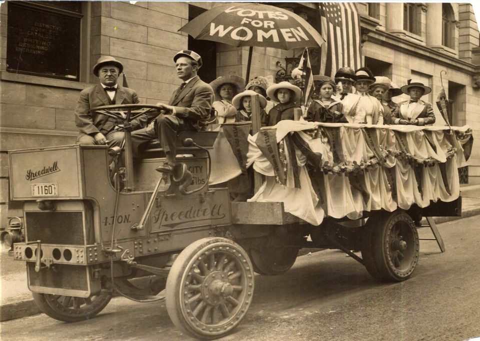 Lunch Wagons were one of many clever promotional tactics of the younger suffragists.