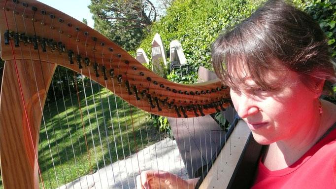 Alix Colin - CTHP - Praticienne certifiée en harpe-thérapie, IHTP, USA, Mentor IHTPEur - Instructor IHTPEurVoir site et biographie complète