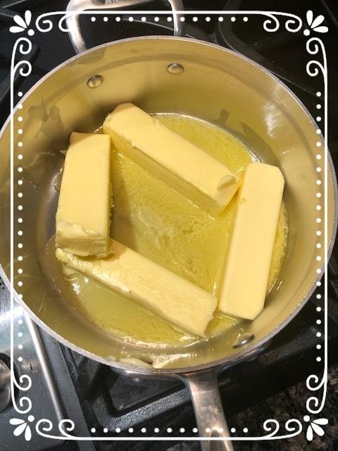 Melting butter on medium heat!