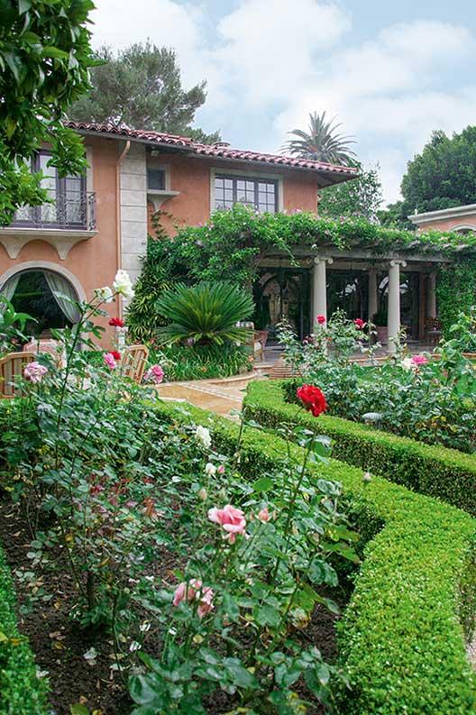 Buxus courtyard formal modern garden villa