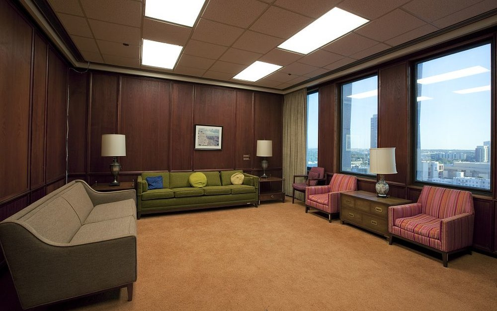 LBJ suite of offices, J.J. Pickle Federal Building by Page-Southerland-Page and Brooks-Bar-Graeb, Austin, Texas, 1965, Photographs in the Carol M. Highsmith Archive, Library of Congress, Prints and Photographs Division.