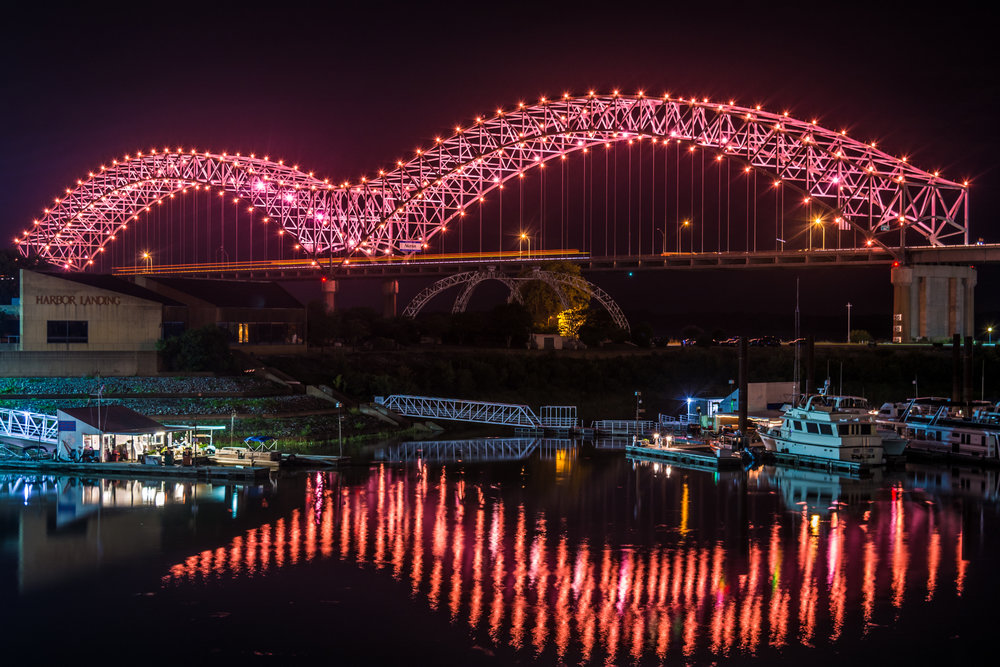Memphis bridge lighting, inc. - In 2016, Memphis Bridge Lighting, Inc. (MBL) was formed as a privately-funded nonprofit organization to use the lighting of our city's bridges to promote activity on the riverfront and provide a unifying symbol of which all Memphians can be proud.