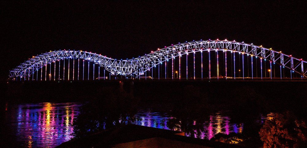 requests - Mighty Lights illuminates Big River Crossing and Hernando de Soto Bridge for organizations, events, and causes that matter to our community. As a privately funded 501(c)3 organization, Mighty Lights uses the revenue from these requests to help support the operation of the bridge lights. If you are interested in customizing the nightly display, please submit the following information.