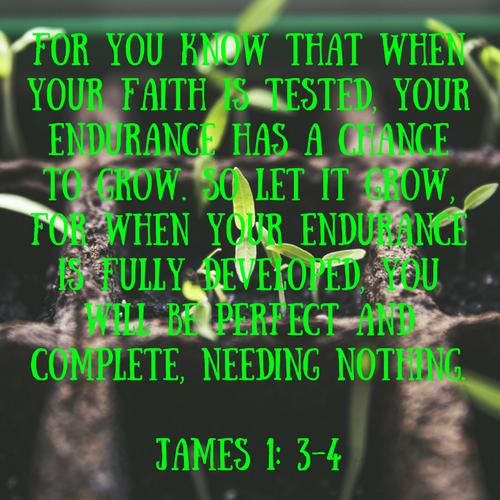 James 1: 3-4