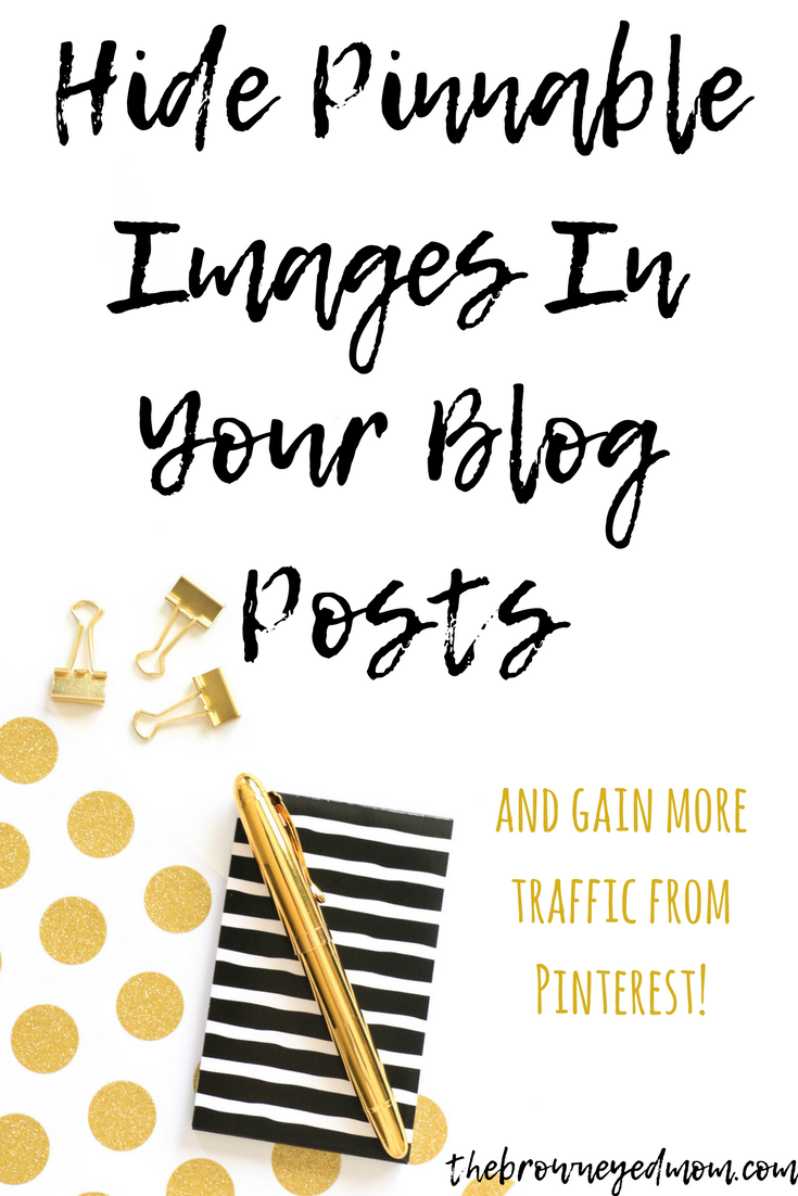 You want to create multiple images for Pinterest for each blog post. But how on earth do you do that without clogging up your post with long pinnable images? I have your solution. It's a simple code you add to your image text and bam! The image doesn't show up in the post, but it does when people try to pin from it! #bloggingtips #blogging #momblog #pinterest #pinterestmarketing