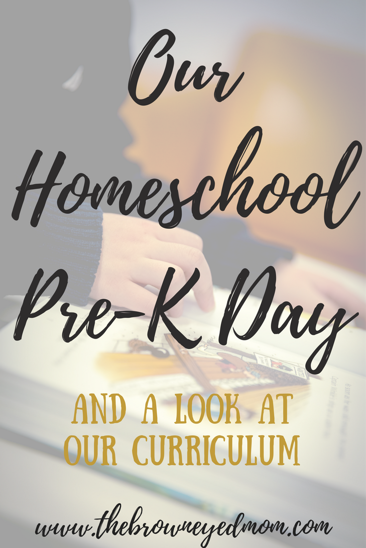 A Look Into Our Homeschool Pre-K Day #homeschool #curriculum #homeschoolschedule #homeschoolprek