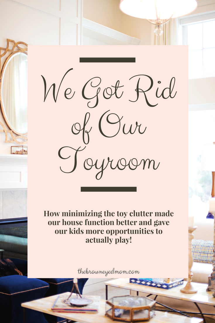 Having a toy room is the norm now, but are they necessary. Some people think so, but we got rid of the one in our house and it. was. glorious! #minimalism #organization #homemaking #cleaning