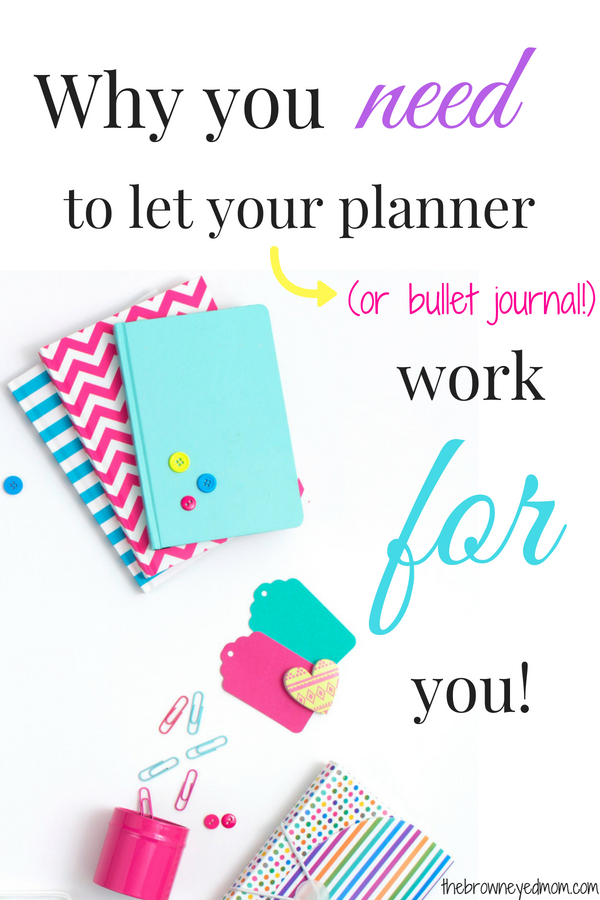 Whether you are using a planner or bullet journal, will only work if you use them. Let your planning system make your life easier and work for you! #organization #planner #bulletjournal #productivity
