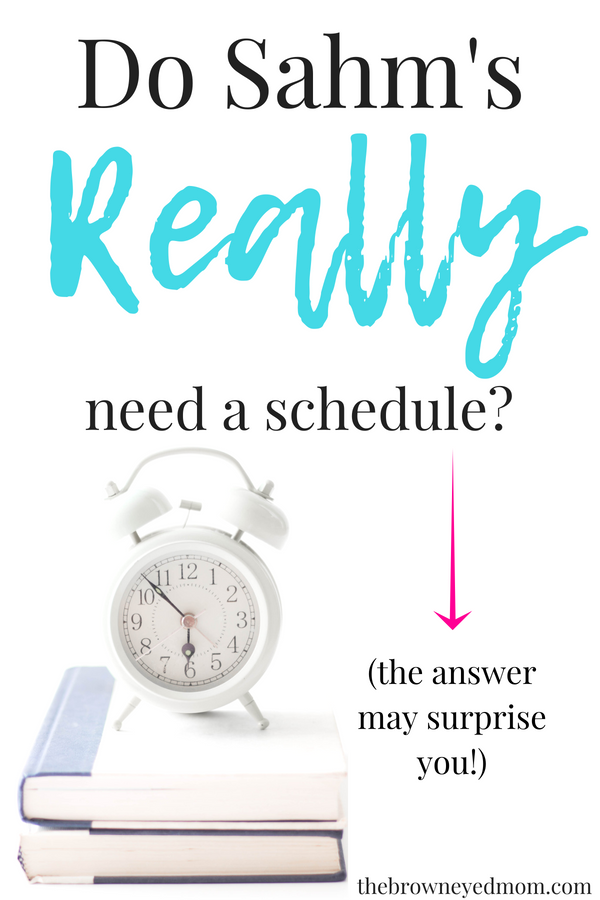 There's so much talk about how a stay at home mom needs a schedule to get through the day and get all the things done. But what if I told you that doesn't really work for most moms? Then what is the answer? Check out my answer on the blog. #sahm #wahm #homeschoolmom #schedule #routine #momboss