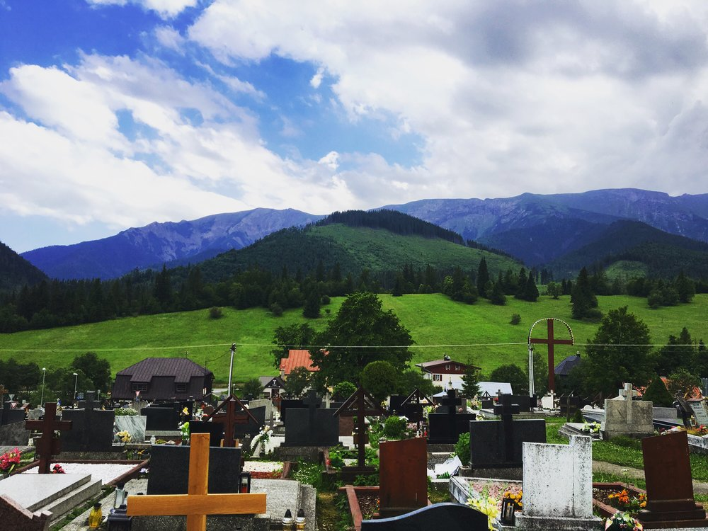 Ždiar and its cemetery are located at the foothills of the High Tatras