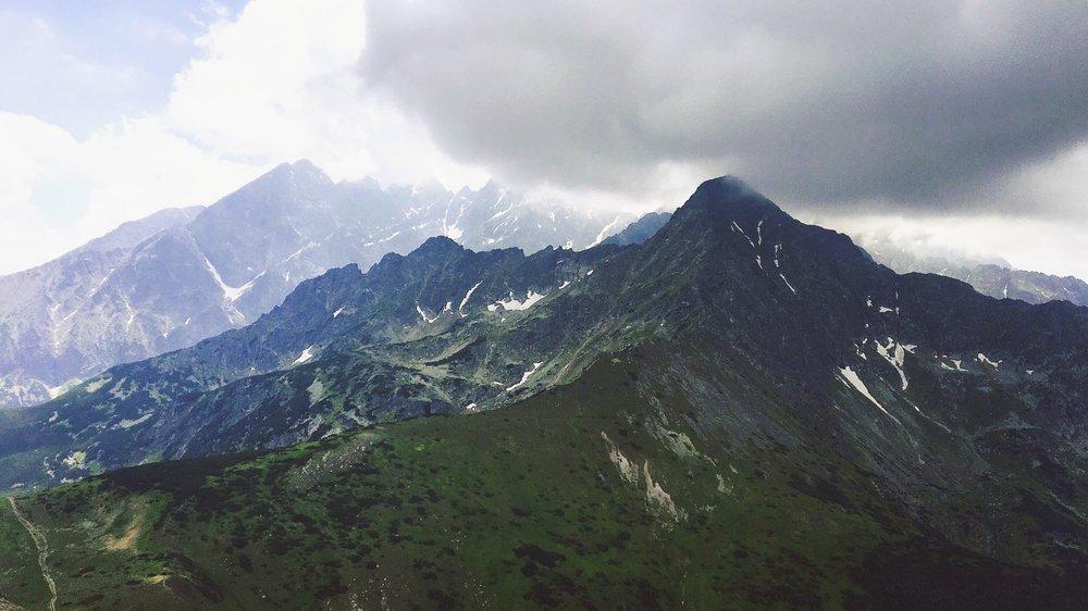 The view from Vyšné Kopské sedlo