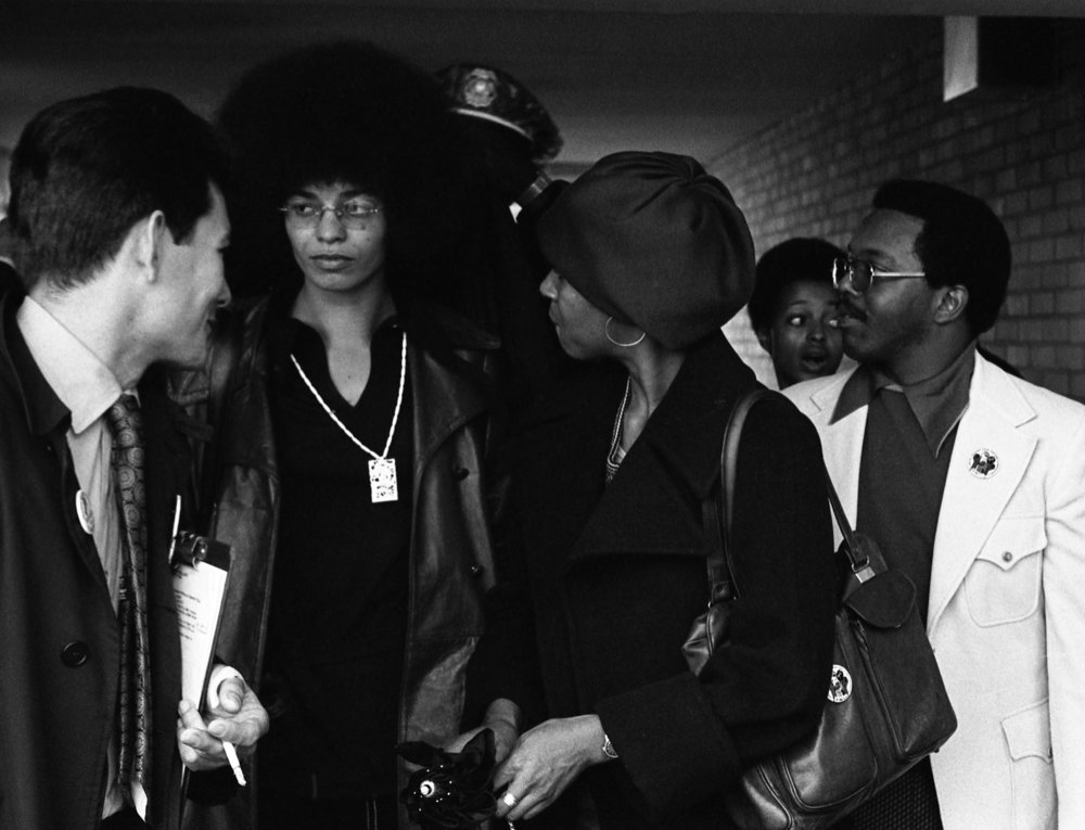 Angela Davis Walking