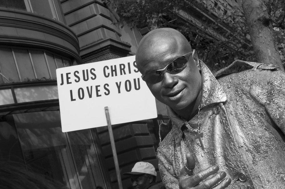 Jesus Loves Silver Man